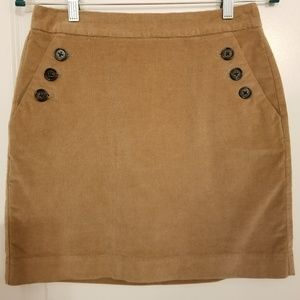Banana Republic mini skirt tan NWT